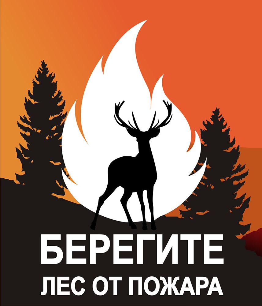 Стенд Берегите лес от пожара, 1400х1200 мм