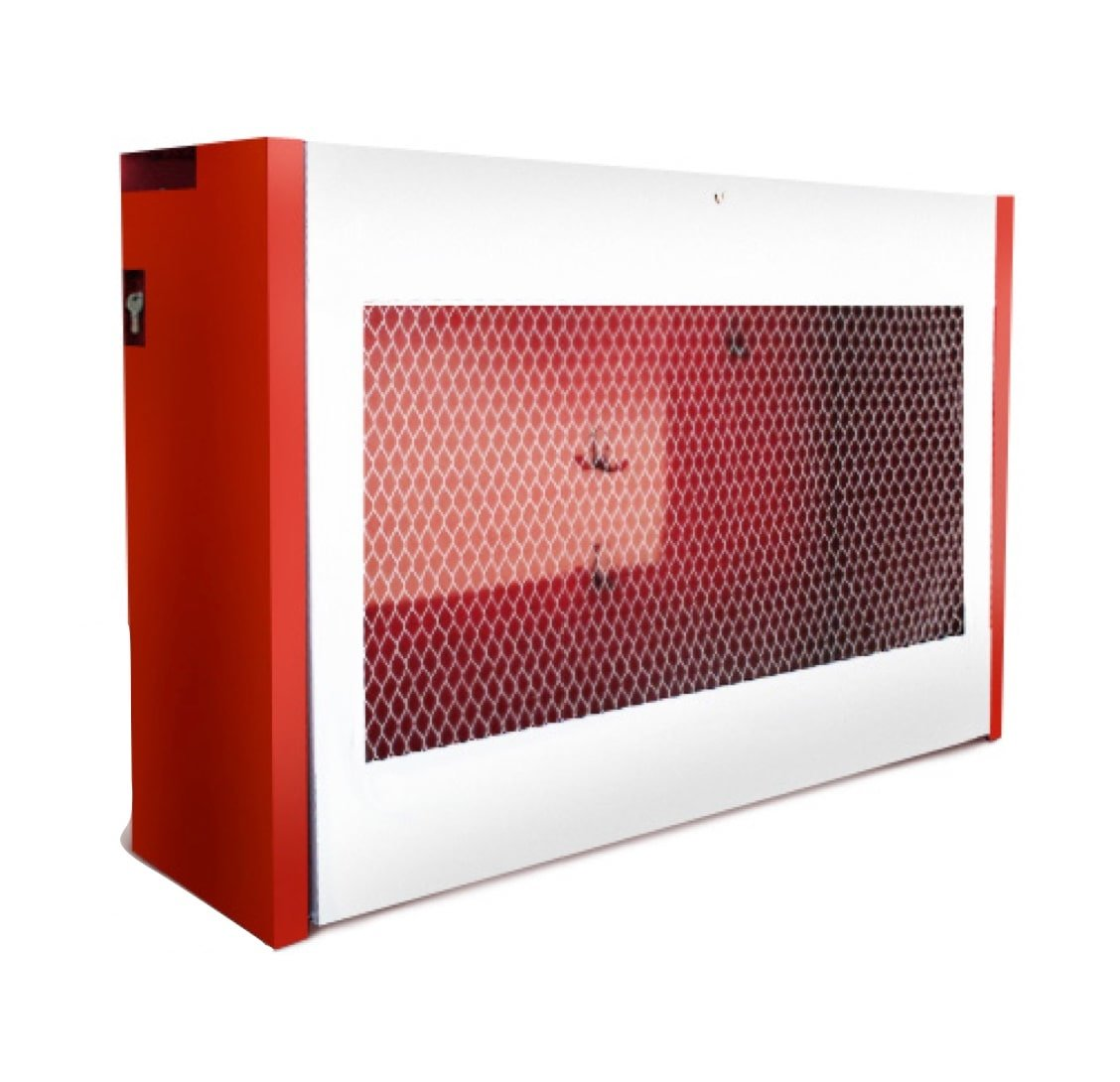 Щит № 3 Пожарный металлический закрытого типа н/укомплект. (1300х540х300) дверь решетка