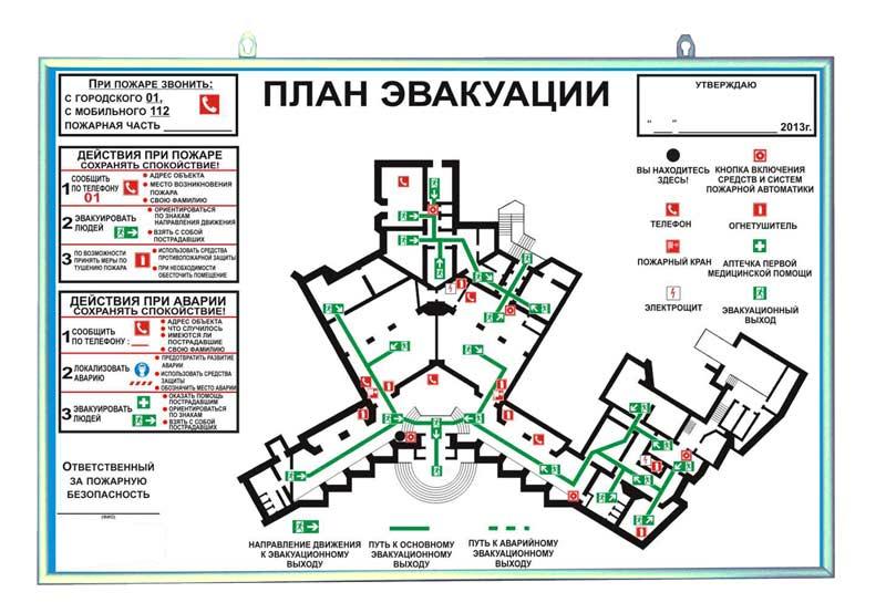 План эвакуации ЛОКАЛЬНЫЙ, фотолюминисцентный, основа пластик, 300х400мм, в рамке (алюминий)